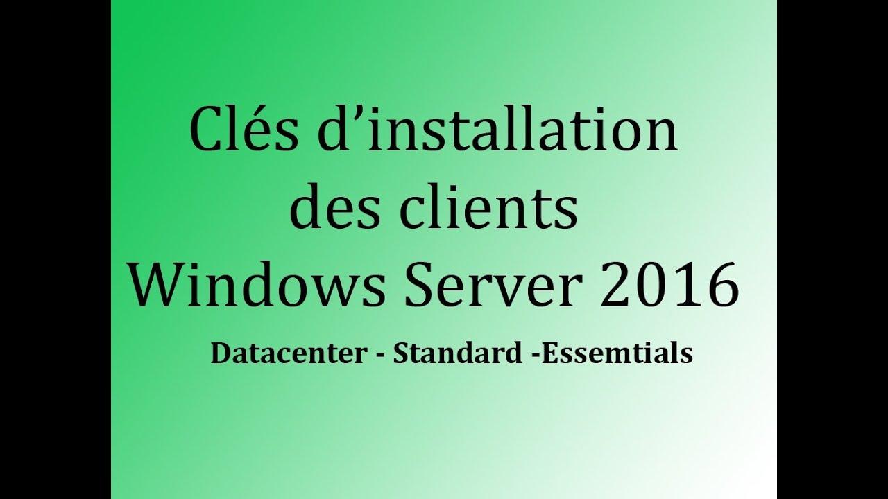 Serial 2016 Server microsoft windows - Datacenter, Essentials, Standard