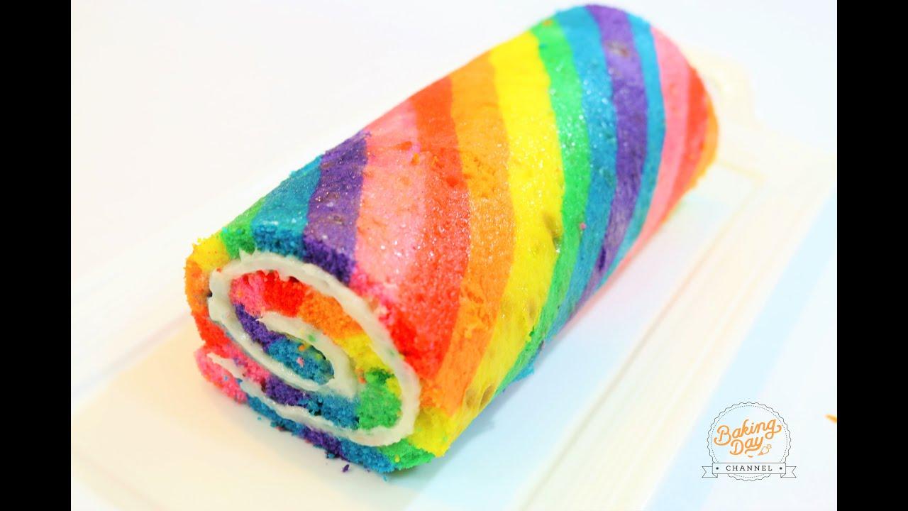 How To Make A Rainbow Cake Roll