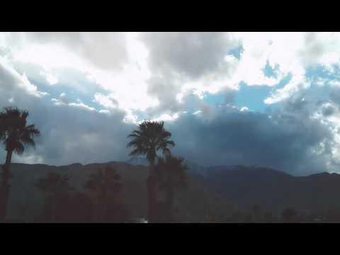 Sleepy stormy weather in Palm Springs California