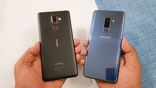 Nokia 7 Plus vs Samsung S9+ Speed Test | Mid Range vs Flagship !