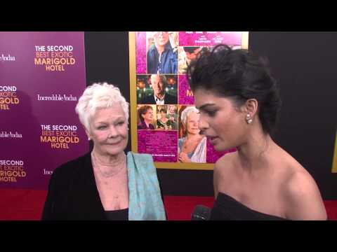 The Second Best Exotic Marigold Hotel: Judi Dench & Tina Desai NYC Premiere