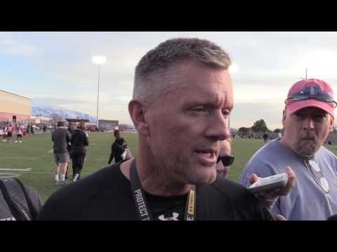 Utah coach Kyle Whittingham on the first day of spring camp