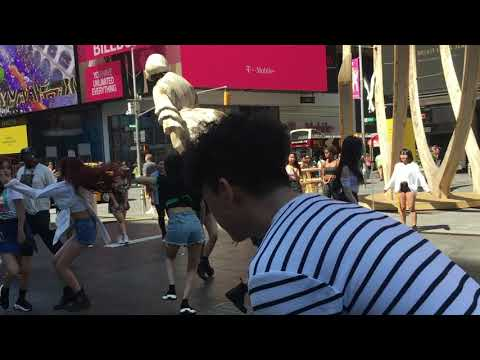 G-IDLE Performs FAKE LOVE (BTS) In Times Square