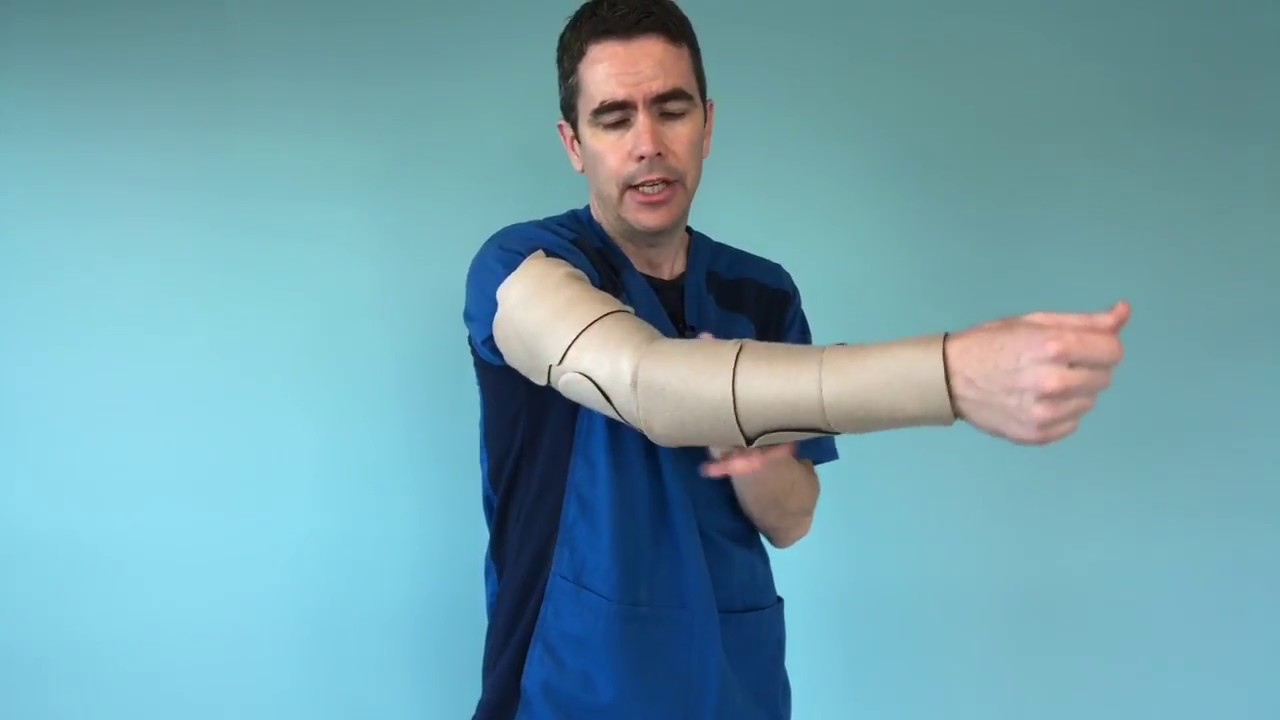 a226045d50 How To Put On A Juzo Arm Compression Wrap - YouTube