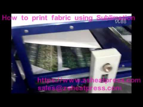 How to print fabric using Sublimation