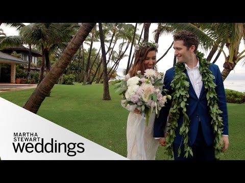 Renee Puente and Matthew Morrison's Hawaii Wedding  Martha Stewart Weddings