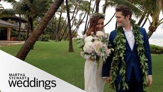 Renee Puente and Matthew Morrison's Hawaii Wedding - Martha Stewart Weddings