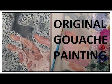 An Original GOUACHE painting!