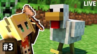 [LIVE] 【Minecraft】#3 呼吸才能活下去👻框框的麥塊生存日記!