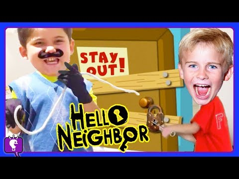 GIANT Hello Neighbor Egg + Video Gaming Compilation With HobbyKids