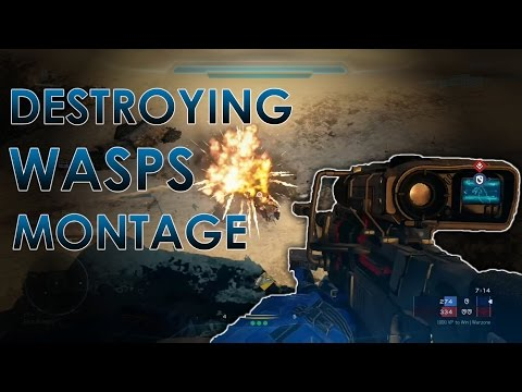 Halo 5: Guardians - Destroying Wasps in Waspzone (Montage)