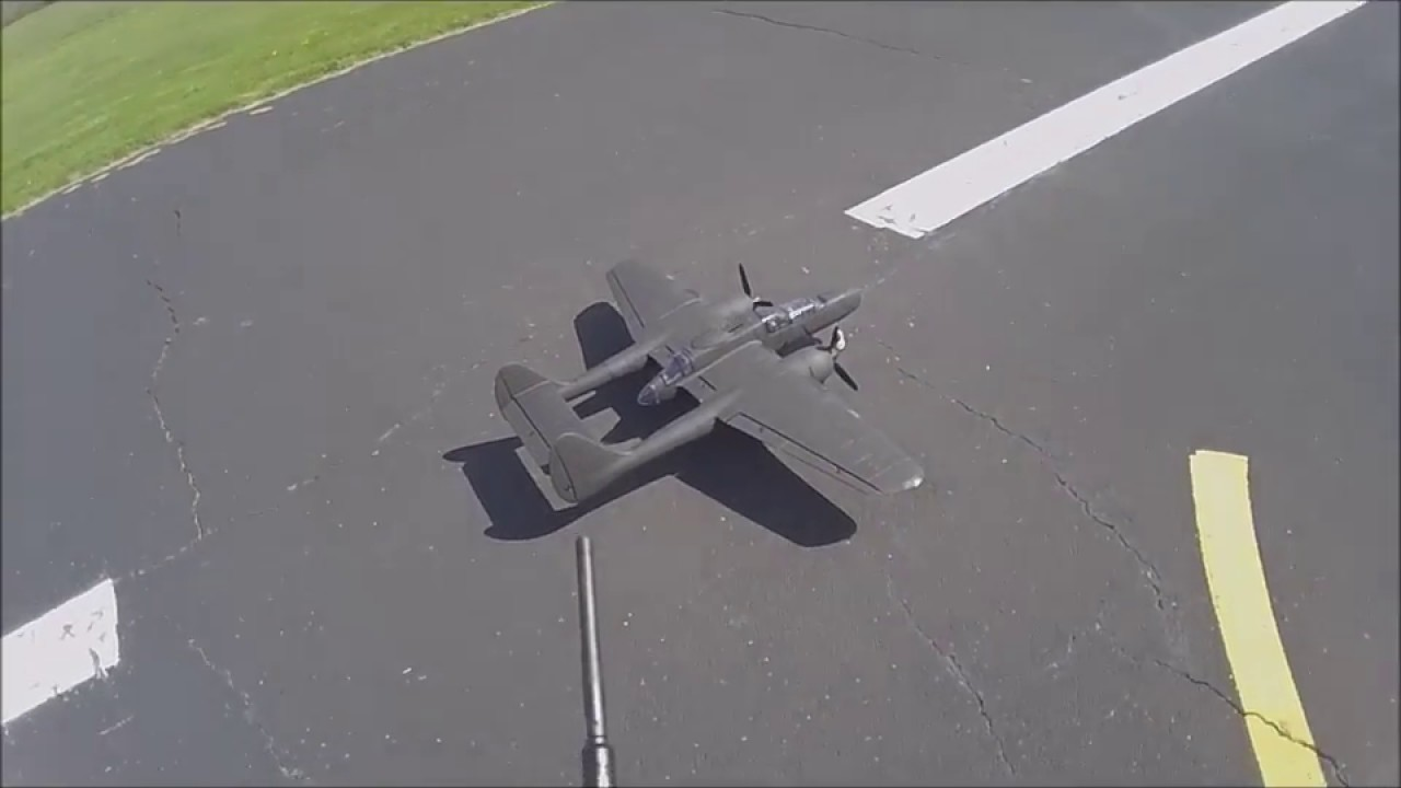 Dynam P 61 Maiden Flight 4 26 18