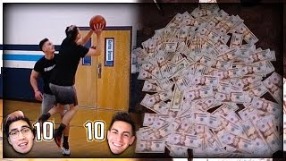 $10,000 1v1 Basketball game! Nerd Asian Kid Vs. Buff Guy