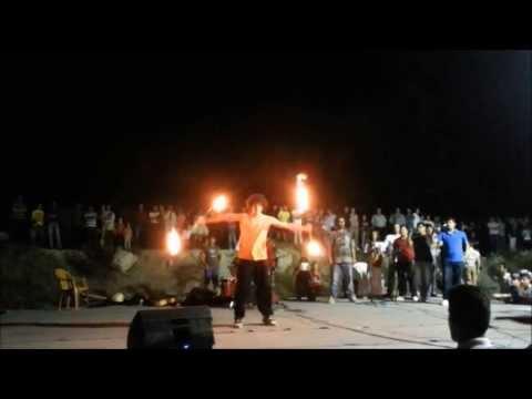 "Mustafa Hammouz - Fire Double staff ""show"""