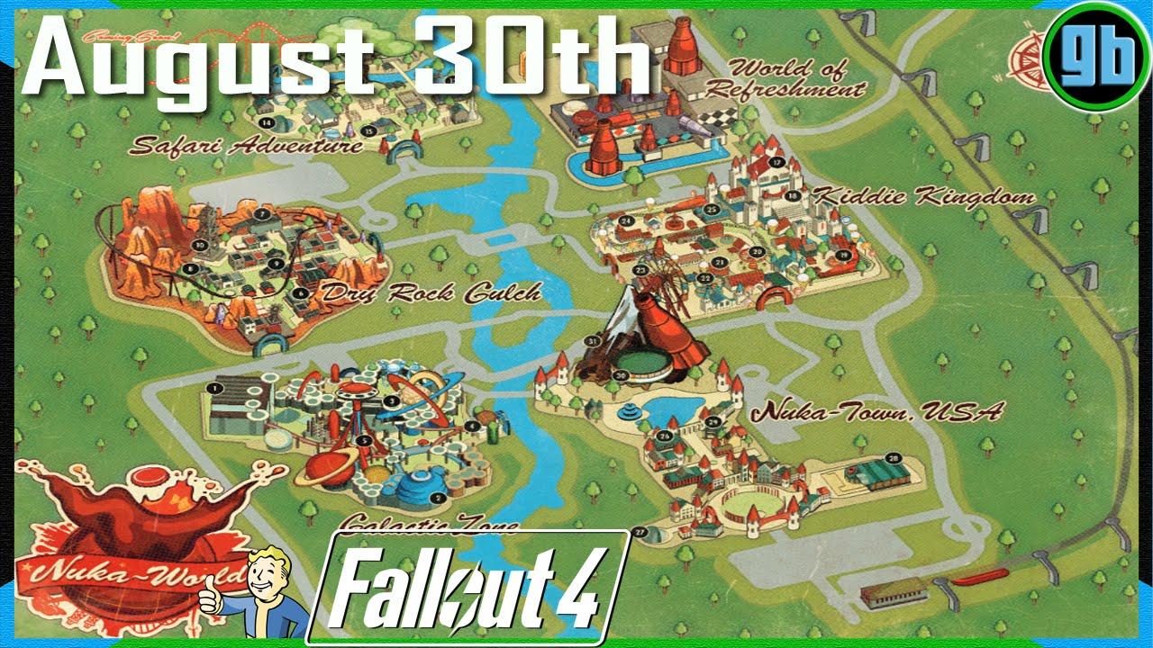 Fallout 4: Nuka World Map   YouTube