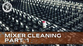 How to service a mixing desk Part 1 - Cleaning the knobs