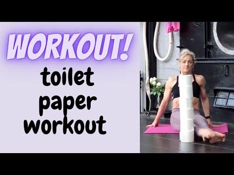 Toilet paper workout