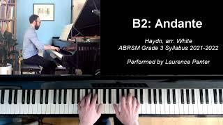 B:2 Andante (ABRSM Grade 3 piano, 2021-2022 syllabus)