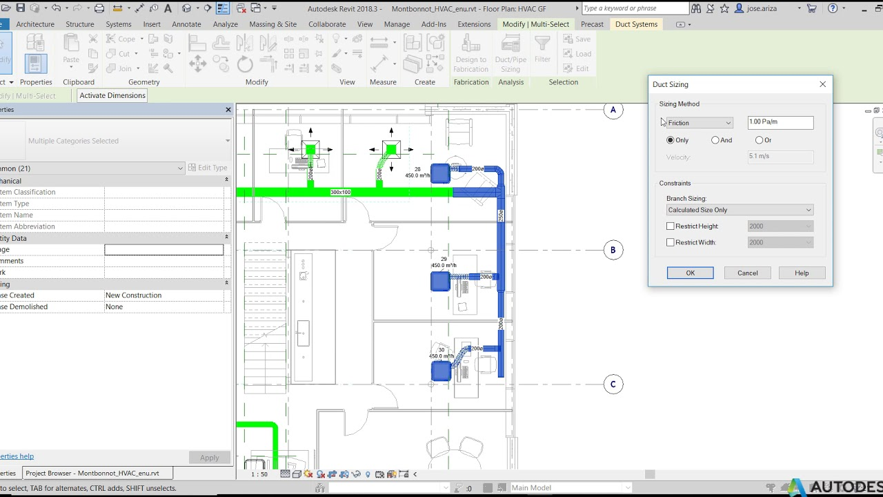 Revit MEP: Duct/Pipe Sizing tool to calculate the right size for each duct  or pipe piece