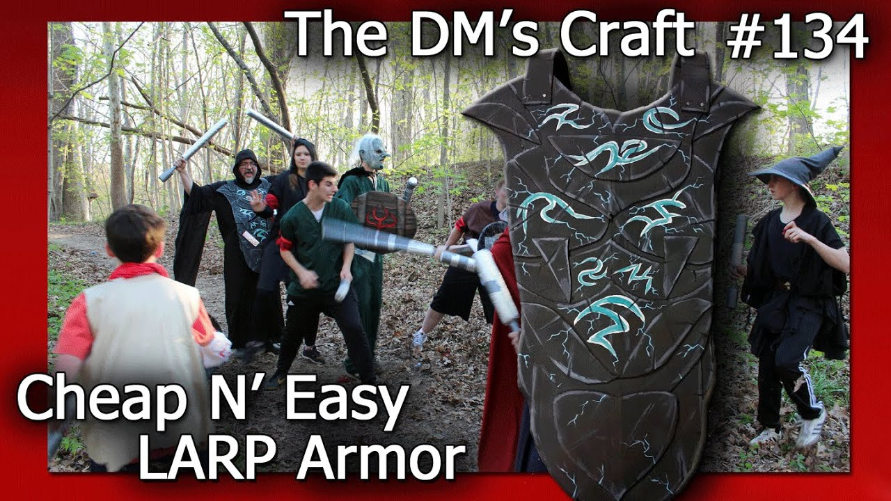 Cheap N' Easy Crafted LARP Mage Armor (DM's Craft #134)