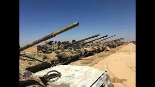 SYRIA: Trophies of the Syrian army in the province of Deraa.