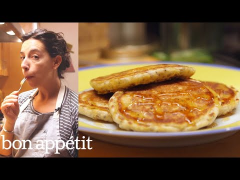 How to Make Deceptively Healthy Pancakes | Bin It To Win It | Bon Appetit