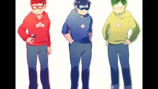 Commission - Seiyuu Matsuno Bros. and Totoko-chan thumbnail