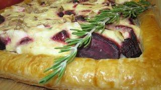 Рецепт- Пирог со свёклою и козьим сыром