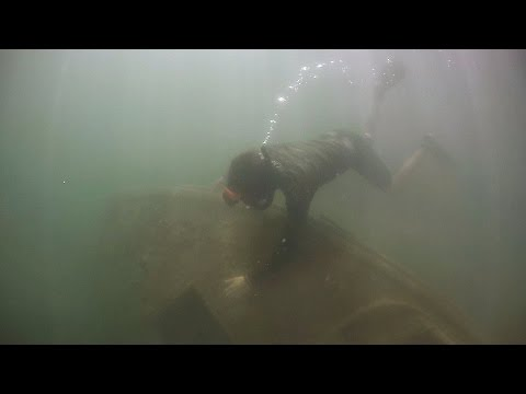 Thumbnail: Found Sunken Boat Underwater in Lake While Freediving! (Crystal Clear Water)