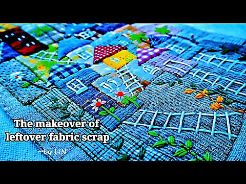 The makeover of leftover fabric scrap┃Idea of sewing project┃ Special gift #HandyMum