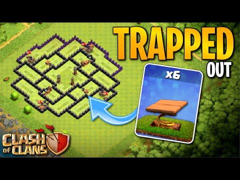 ALL TRAPPED OUT!  TH8 Clash of Clans