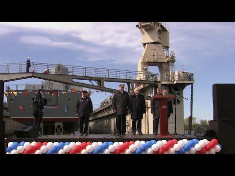 В Санкт-Петербурге спустили на воду фрегат