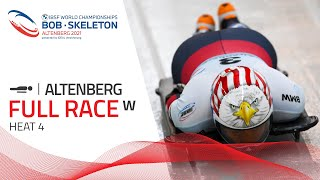 Altenberg | BMW IBSF World Championships 2021 - Women's Skeleton Heat 4 | IBSF Official