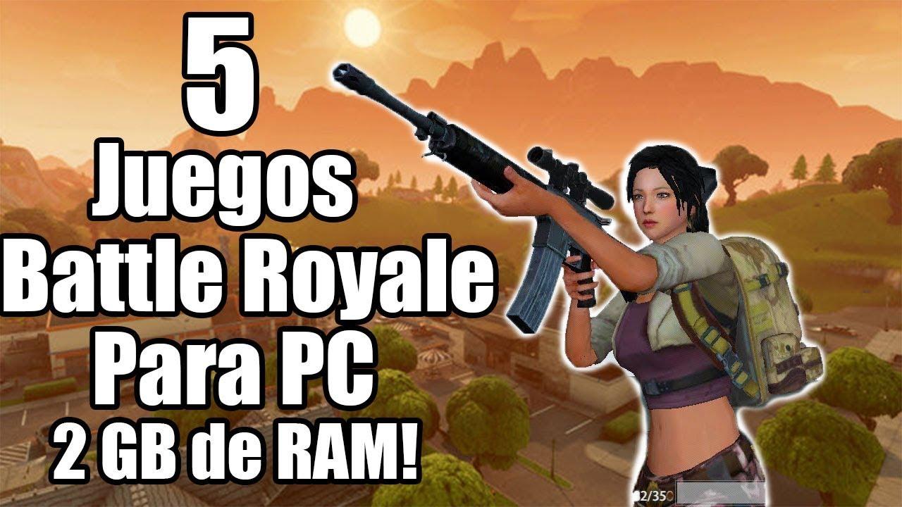 Top 5 Juegos Battle Royale Para Pc Gratuitos Pocos Y Medios