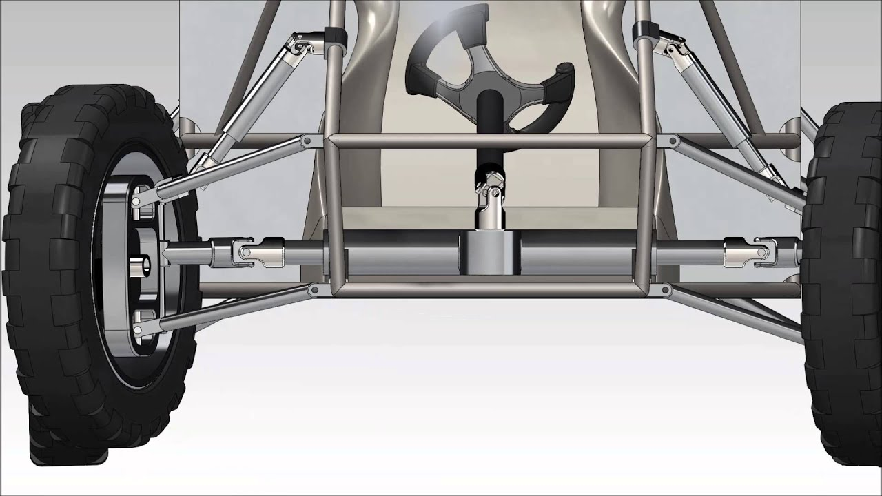 Suspension Design Report Mini Baja Cad Design With Working Suspension Steering