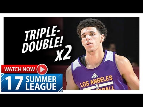 Download Youtube: Lonzo Ball Triple-Double Highlights vs Cavaliers (2017.07.13) Summer League - 16 Pts, 12 Ast, 10 Reb