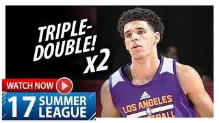 Lonzo Ball Triple-Double Highlights vs Cavaliers (2017.07.13) Summer League - 16 Pts, 12 Ast, 10 Reb