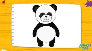 Учимся рисовать животных: как нарисовать панду поэтапно карандашом для детей - Amaze Kids(Развивающее #Видео. #КакНарисовать панду карандашом поэтапно за 2 минуты #AmazeKids https://youtu.be/Ud5uH2945IQ 0:19 #КакНарис..., 2017-02-11T15:56:03.000Z)