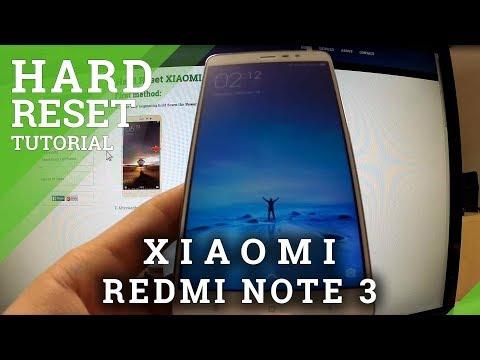 Hard Reset XIAOMI Redmi Note 3 - HardReset info