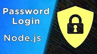 Build Node.js User Authentication - Password Login