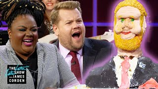 Judging James Corden Cakes w/ 'Nailed It' Star Nicole Byer & Michael Douglas