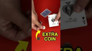 EASY COIN MAGIC TRICK REVEALED - #Shorts