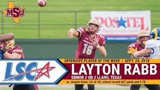 Rabb wins third LSC Offensive Player of the Week honor
