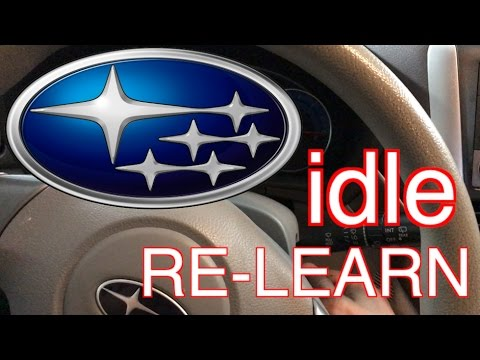 Subaru idle fix – idle relearn