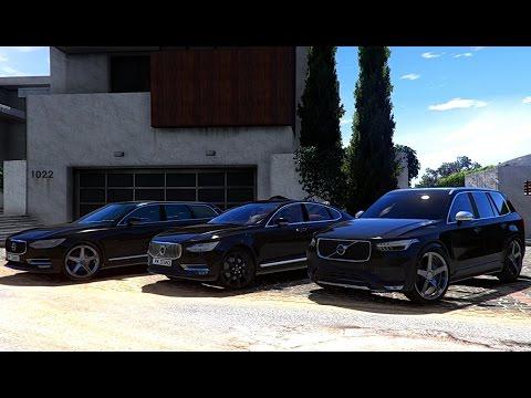 GTA V | VOLVO XC90 T6 2017 VS. VOLVO S90 T6 VS. VOLVO V90 T6 | GTA 5 - YouTube