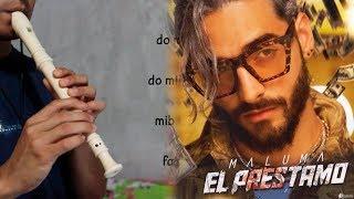 El Préstamo - Maluma - Flauta dulce (Tutorial)
