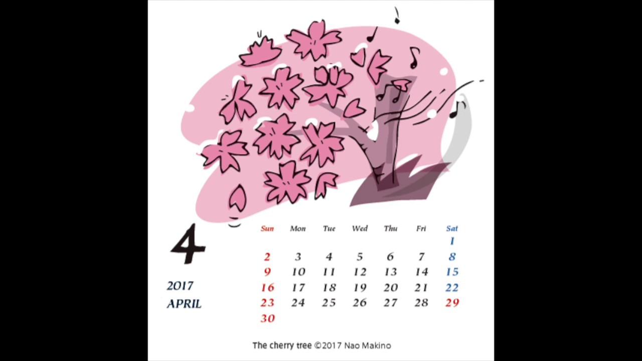 April 2017 桜の木 The cherry tree (John Ireland)