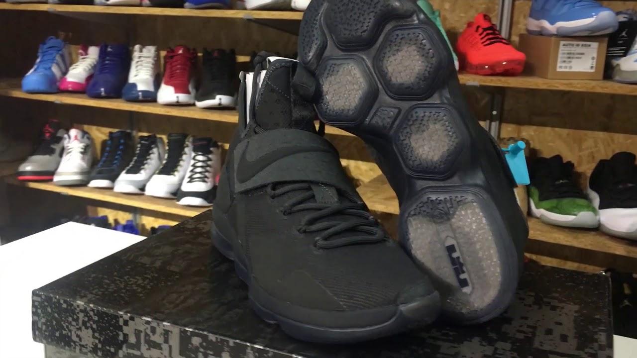 fbb64948da55 Nike LeBron 14 LMTD EP Zero Dark Thirty 852402-002   852403-002 Product  Detail Look