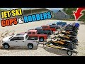 JET SKI COPS & ROBBERS VS SUBS! ON THE NEW LAKE MAP | MULTIPLAYER | FARMING SIMULATOR 2017