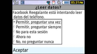 Actualización Facebook Mobile (Java) - Samsung chat 335.